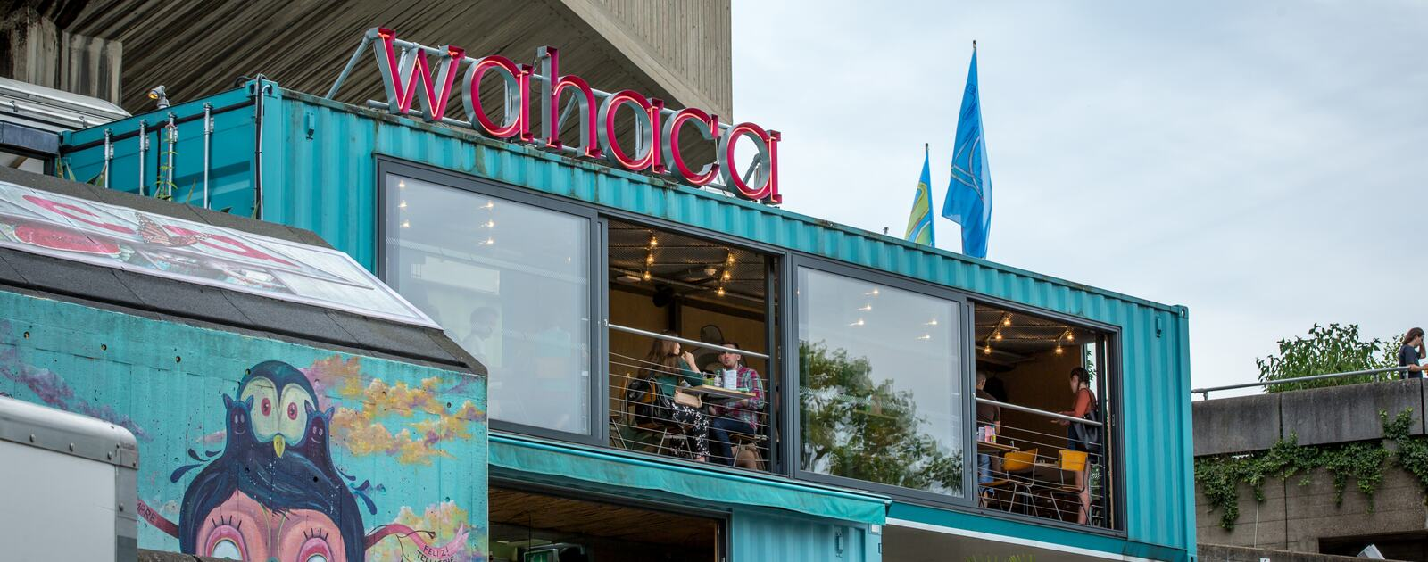 Wahaca shipping containers at Southbank Centre
