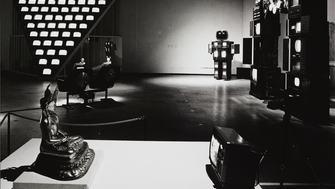 Installation view: Nam June Paik: Video Works 1963-88, Hayward Gallery, 1988