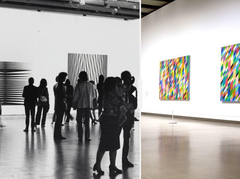 Bridget Riley at Hayward Gallery in 1971 and in 2020