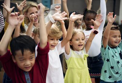 Audience of children