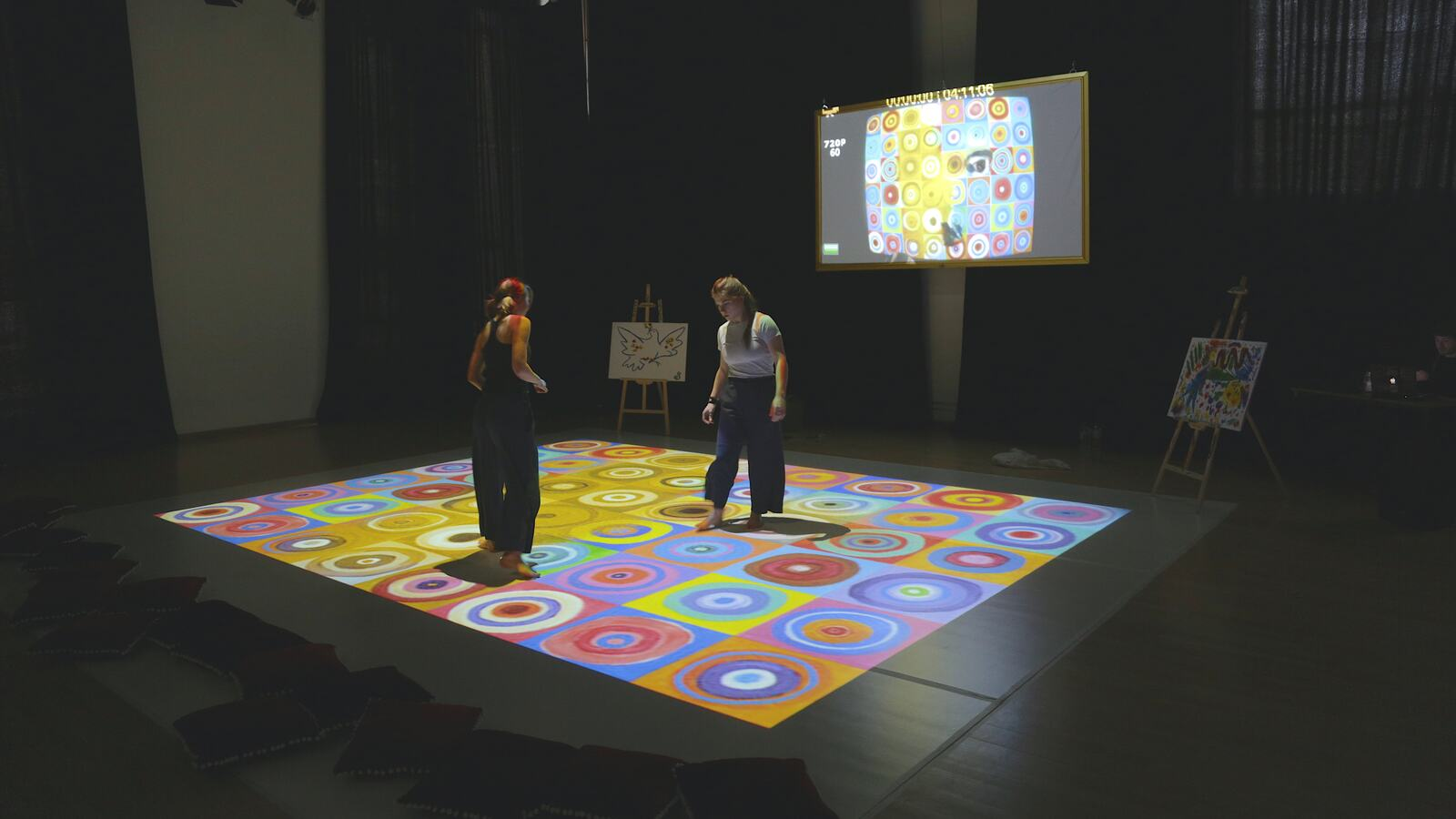 Artist Performance in an Interactive Space