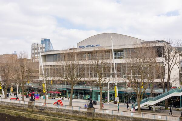 Royal Festival Hall from the Hungerford Bridge