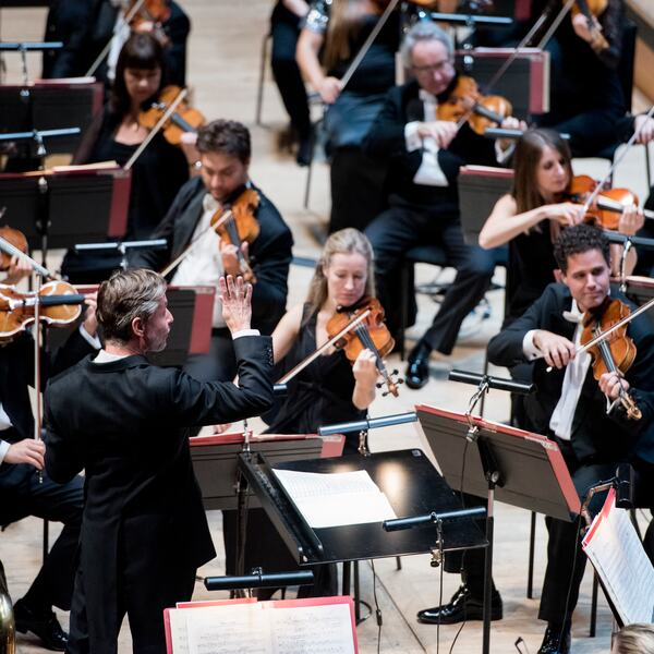 The Philharmonia Orchestra perform