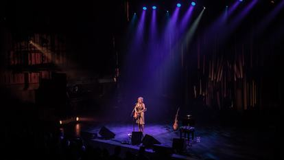 Singer songwriter Kristin Hersh performs on stage in Queen Elizabeth Hall as part of Meltdown festival 2018, curated by Robert Smith
