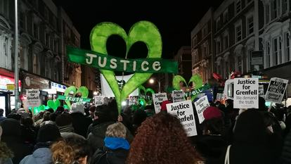 Justice for Grenfell demonstration