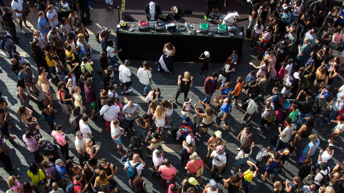 Outdoor stage at Southbank Centre