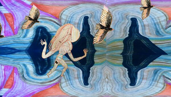 Emma Talbot, Birds, Freedom, 2020, Courtesy and copyright the artist