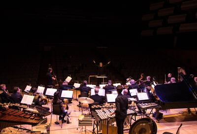 London Sinfonietta performing on stage