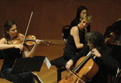 ArsLonga Piano Trio performing on stage