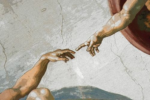 AD1TR1 Michelangelo's ceiling painting, Sistine Chapel, Vatican, Rome, Italy