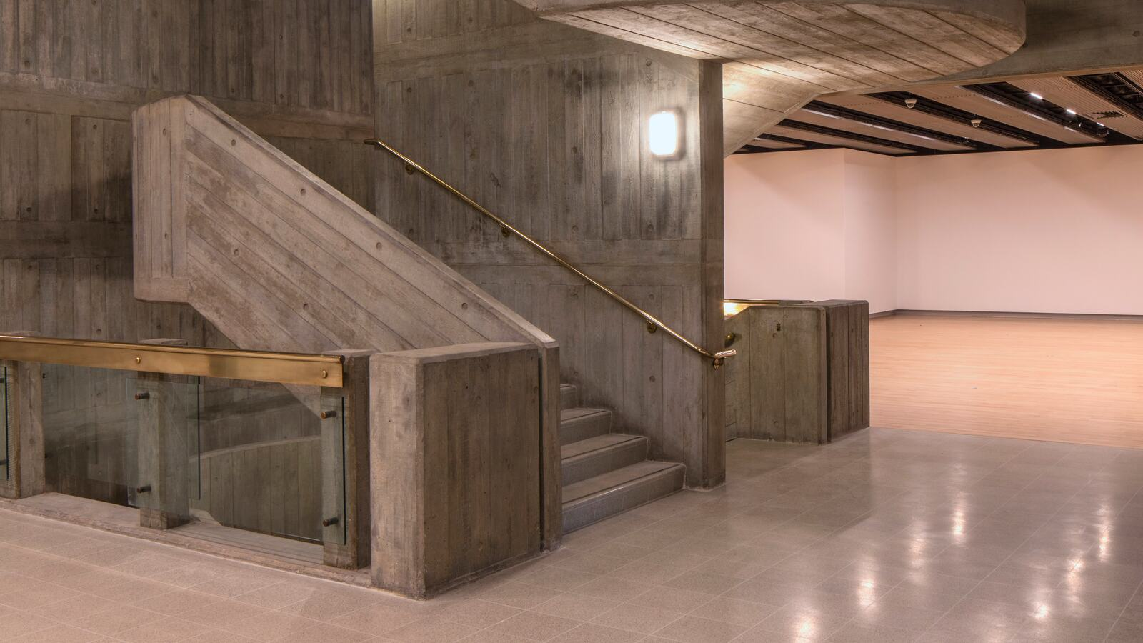 View of the interior stairs at Hayward Gallery