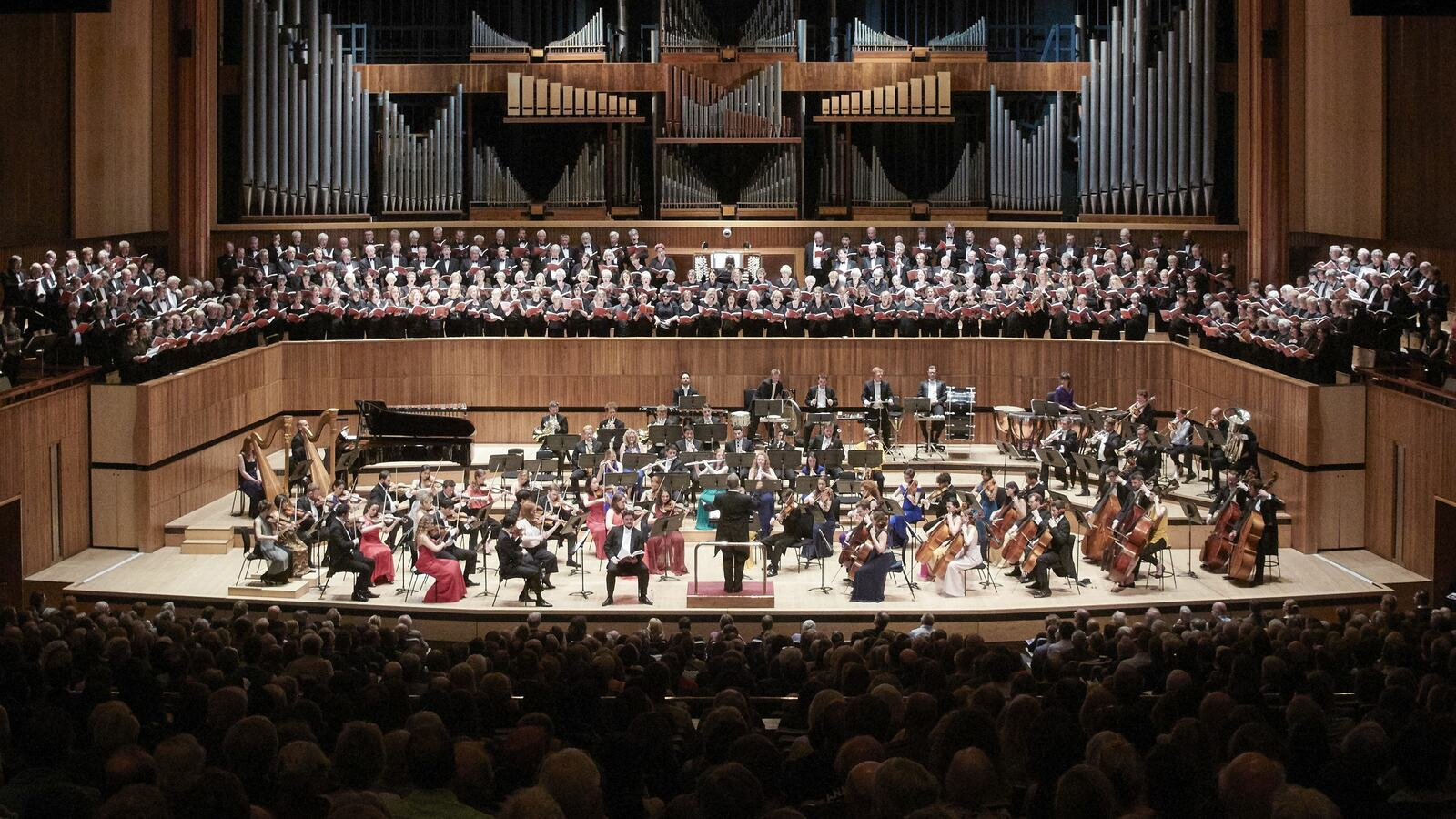 Parliament Choir on stage at Royal Festival Hall