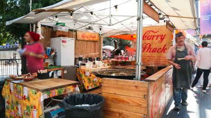 Southbank Centre Food Market.Stall 12 - Curry Shack.August 2016