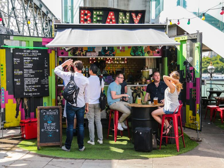 Beany Green Stall at the Southbank Centre