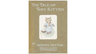 Front cover of the illustrated children's book The Tale of Tom Kitten