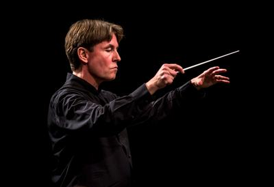 Esa-Pekka Salonen conducting the Verbier Festival Orchestra at the Verbier Festival 2015. Photo by Nicolas Brodard.