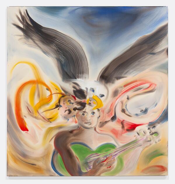 Sophie von Hellermann, Hope and History, 2021 Acrylic on canvas, 200 x 190 cm © the artist (2021). Courtesy of the artist and Pilar Corrias (London), Greene Naftali (New York),  Sies + Höke (Düsseldorf), Wentrup Gallery (Berlin). Photo: Ollie Harrop