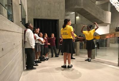 Space Shifters Schools Takeover, young people in the Hayward Gallery