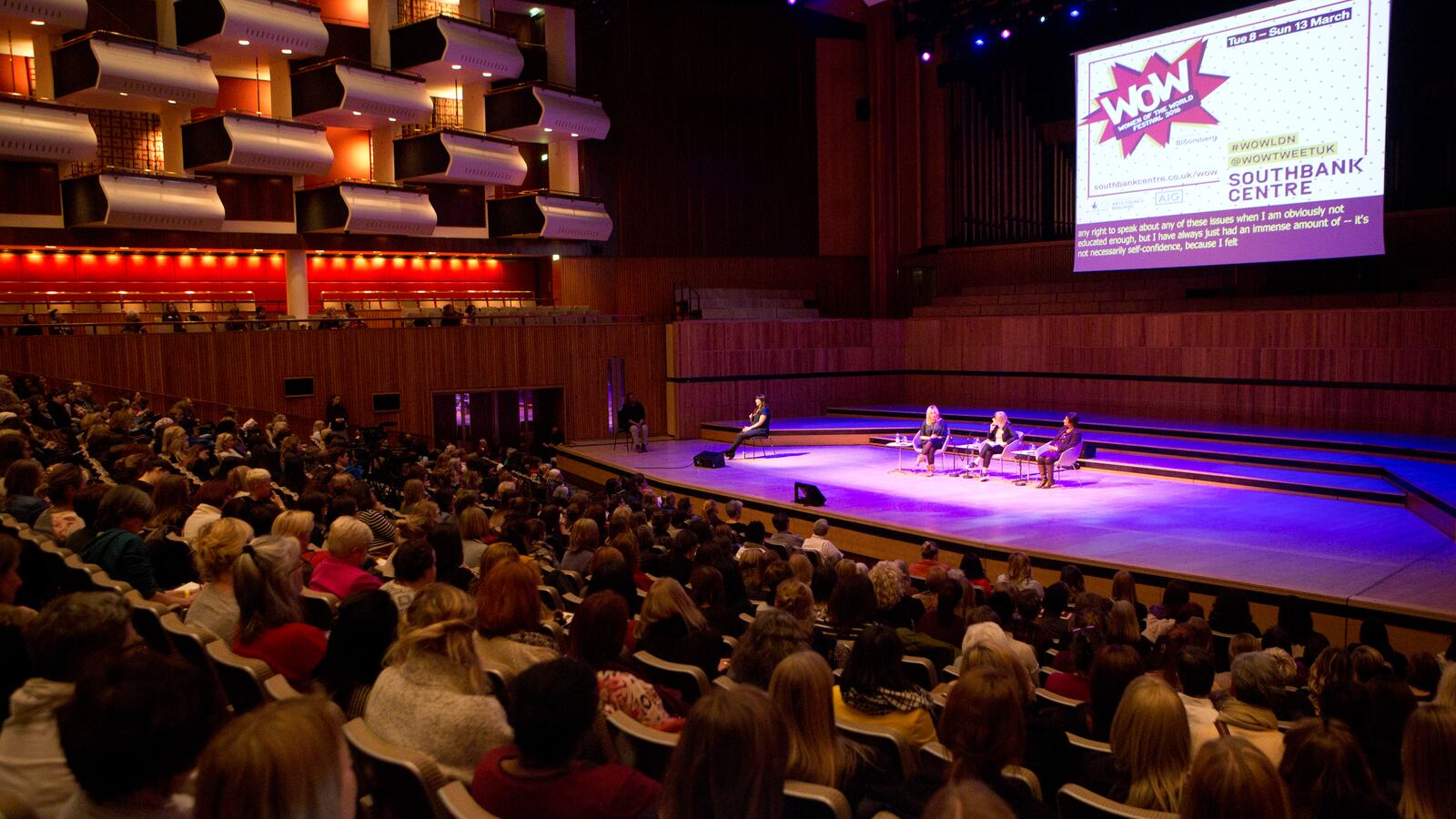 Audience in the Royal Festival Hall