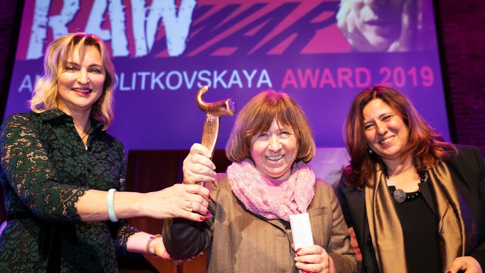 Refusing to Be Silenced, Women at Awards Ceremony