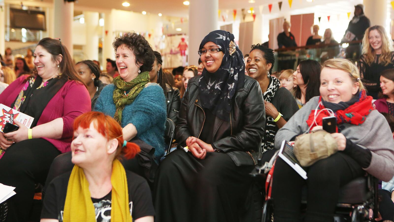 An audience at the Women of the World Festival
