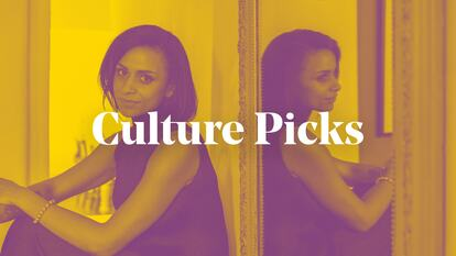 Header for Culture Picks blog, featuring poet Rachel Long