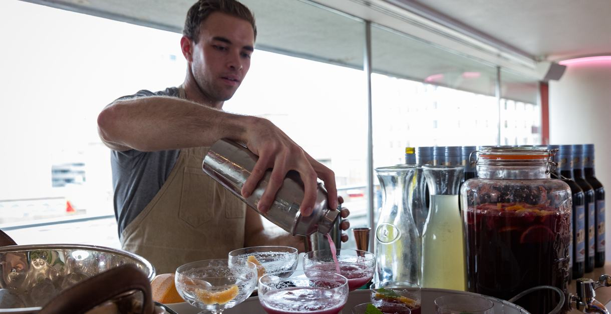 Bartender at Jam Shed Supper Club, Southbank Centre