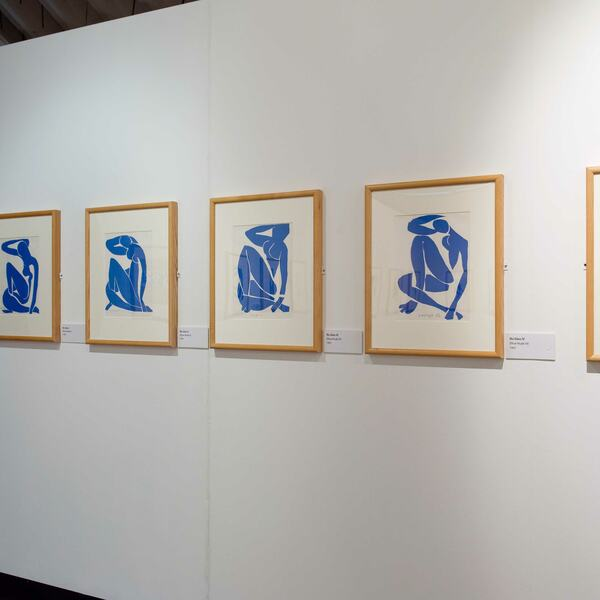 Installation view: Matisse: Drawing with Scissors Late Works 1950 - 1954, a Hayward Touring exhibition