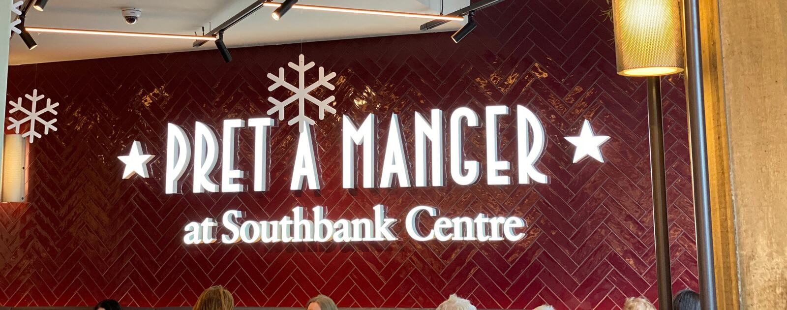 Interior view of Pret A Manger at Southbank Centre