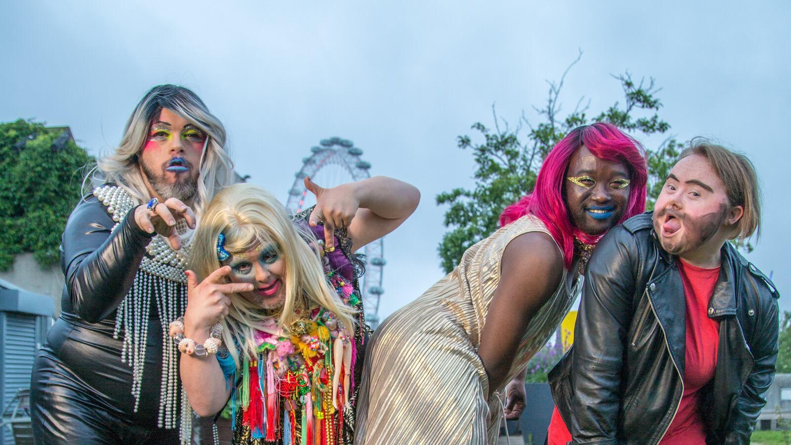 Performers in Queen Elizabeth Hall Rooftop Garden