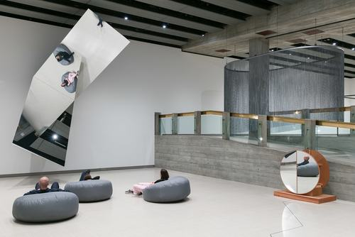 Installation view of Jeppe Hein's 360° Illusion V, 2018 at Space Shifters, Hayward Gallery 2018