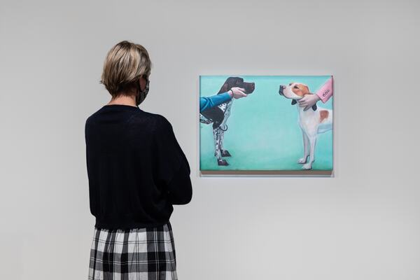Installation view of Mixing It Up: Painting Today at Hayward Gallery, 2021
