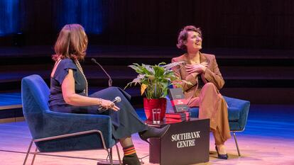 Phoebe Waller-Bridge in conversation with Deborah Frances-White on stage at Southbank Centre