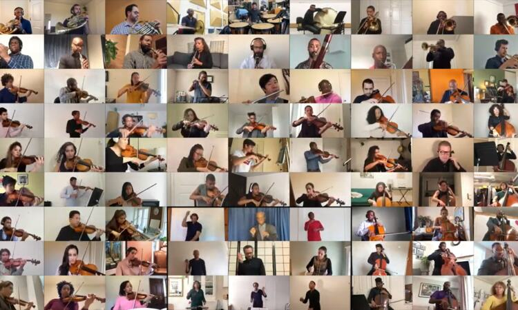 Chineke! Orchestra and the USA's Sphinx Organisation perform with each other remotely