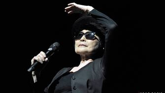 Yoko Ono performing at Meltdown