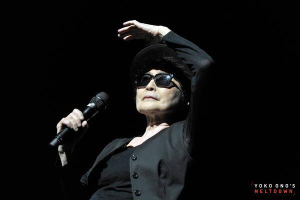 Yoko Ono performing at Meltdown