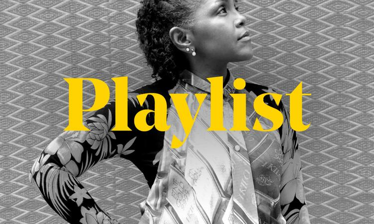 Carleen Anderson playlist graphic featuring an image of the artist and the word playlist