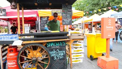 Southbank Centre Food Market.Stall V1 - Shackle's.August 2016