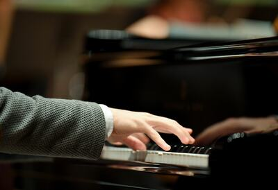 A pianist at the piano