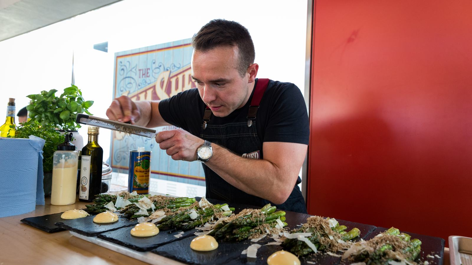 Chef at Jam Shed Supper Club, Southbank Centre