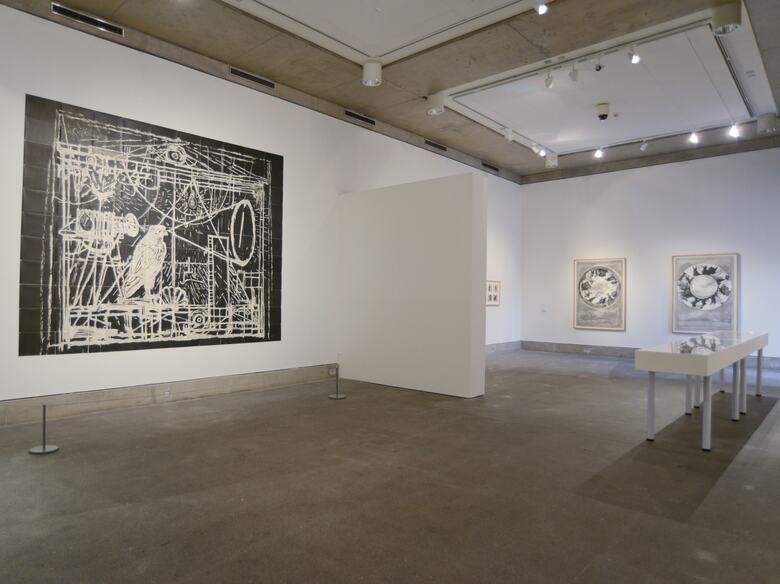 Installation View of exhibition by artist, William Kentridge Hayward Touring Exhibition