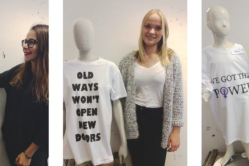 Students from Ålands Lyceum working on an upcoming exhibition as part of Nordic Matters, inspired by International Day of the Girl.