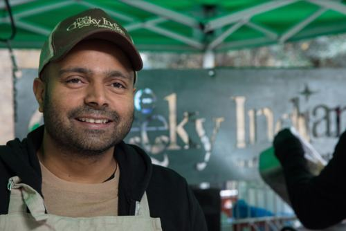 Ash Sutaria of The Cheeky Indian street food stall