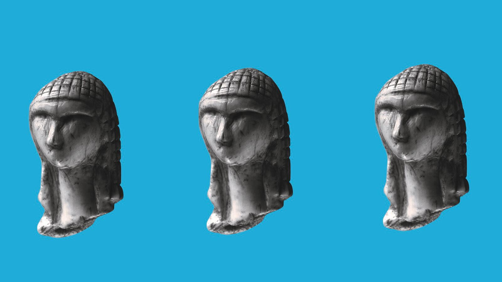 Sapiens, three busts