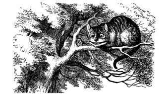 Illustration of The Cheshire Cat from Alice's Adventures in Wonderland