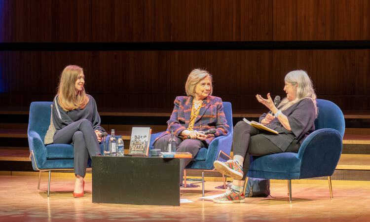 Hillary Rodham Clinton, Chelsea Clinton & Mary Beard on stage at Royal Festival Hall