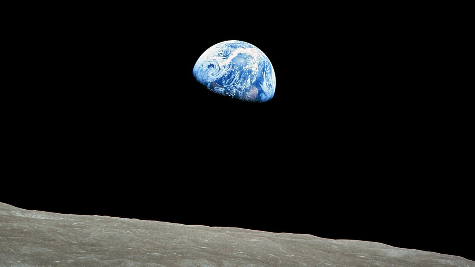 Image of Earth from the Moon