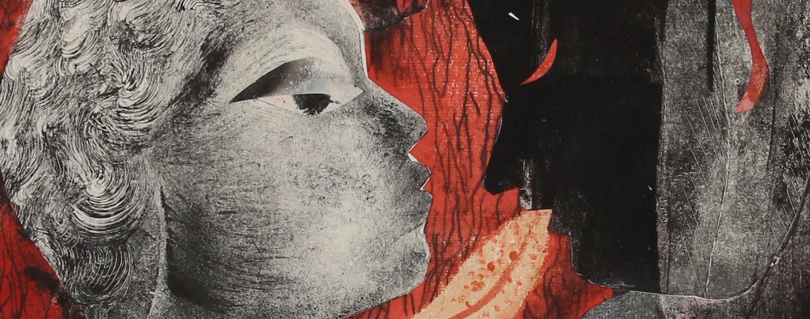 Language Shift, collage art