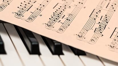 Image of Sheet Music and Piano