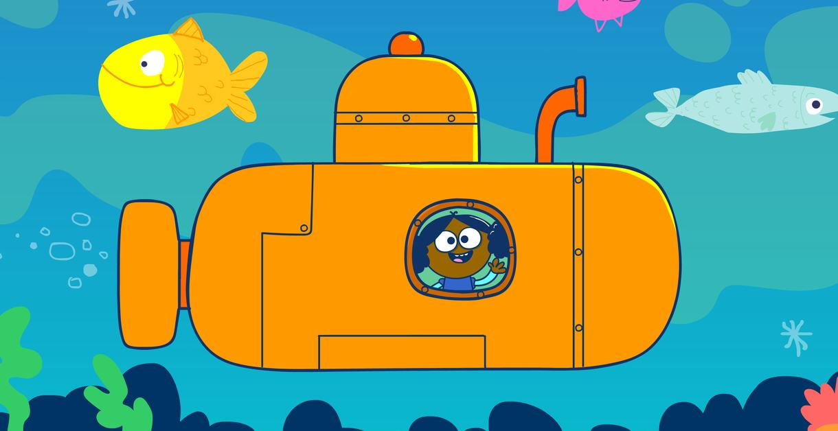 Groove Baby Groove Under the Sea, illustration of submarine